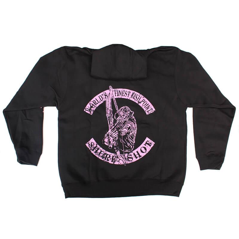 Black Hoodie, Pink Logo Shure Shot Hoodie – Back