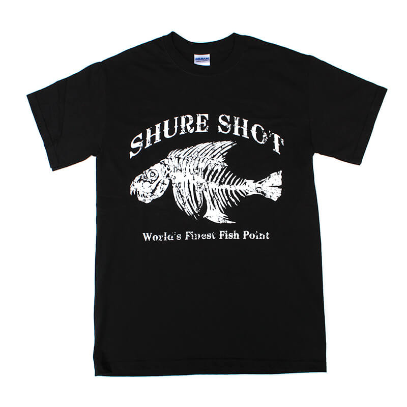 Black Short Sleeve Shure Shot Tee - Front